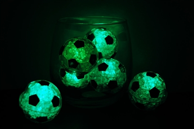 Green LiteCubes Soccer Ball Light Up Ice Cubes