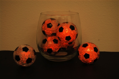 Orange LiteCubes Soccer Ball Light Up Ice Cubes