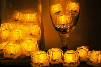 Topaz Yellow Jewel LiteCubes Light Up Ice Cubes