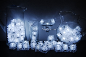 White LiteCubes 3 Mode Light Up Ice Cubes