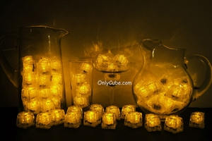 Yellow LiteCubes 3 Mode Light Up Ice Cubes