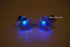 Blue LED Light Up Flower Shape Stud Earrings