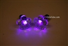 Purple LED Light Up Flower Shape Stud Earrings