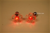 Red LED Light Up Flower Shape Stud Earrings