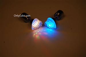 MultiColor LED Light Up Heart Shape Stud Earrings