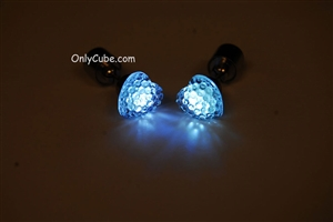 White LED Light Up Heart Shape Stud Earrings