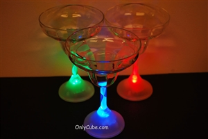 8oz LED Light Up Margarita Glass