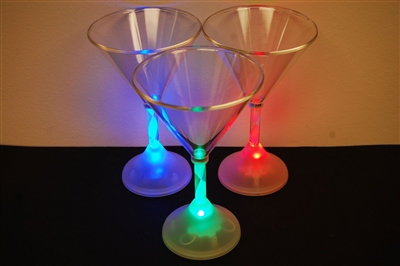 6oz LED Light Up Martini Glass