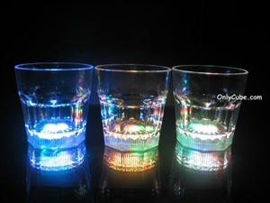 10oz LED Light Up Rocks Glass