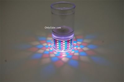 LiteRays Light Up Projection Shot Glasses- Diamond