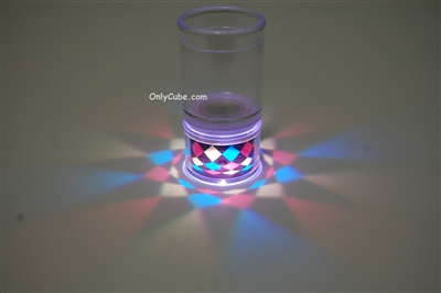 LiteRays Light Up Projection Shot Glasses- Kaleidoscope