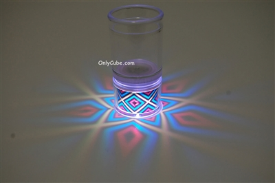 LiteRays Light Up Projection Shot Glasses- 5 Star