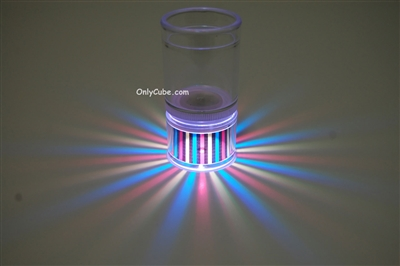 LiteRays Light Up Projection Shot Glasses- Stripes
