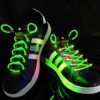Green LED Shoelaces