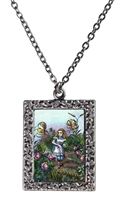 Alice in Wonderland Alice and Rose Garden Necklace