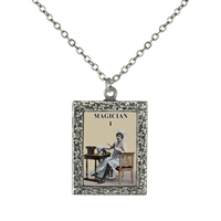 Magician Tarot Card Frame Necklace
