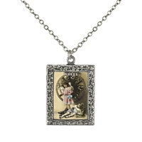 10 Wheel Tarot Card Frame Necklace