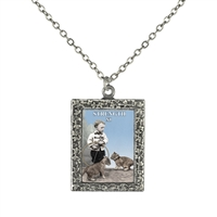 Strength Tarot Card Frame Necklace