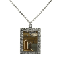 Hanged One Tarot Card Frame Necklace