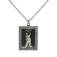 Death Tarot Card Frame Necklace