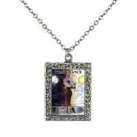 Temperance Tarot Card Frame Necklace