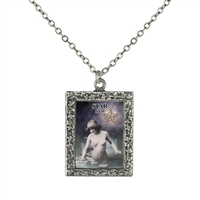 17 Star Tarot Card Frame Necklace