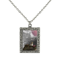 7 Chariot Tarot Card Frame Necklace