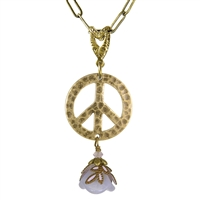 Flower Child Peace Sign Necklace