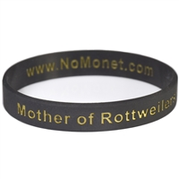 Mother of Rottweilers Silicone Bracelet