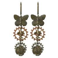Steam Garden Steampunk Earrings