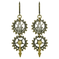 Time Bug Steampunk Earrings