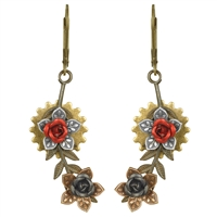 Fallen Leaf Steampunk Earrings
