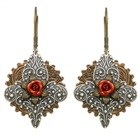 Joan of Arc Steampunk Earrings