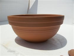 Ridged Bowl Clay Pot