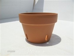 Orchid Clay Pot