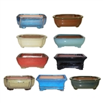 "BONSAI POT ASSORTMENT 6"" MULTICOLORS"