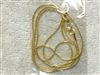 GOLD PLATED SNAKE CHAIN NECKLACE WITH CLASP
