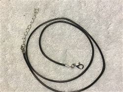 BLACK WAXED NECKLACE CORD WITH CLASP FOR BRACELET OR NECKLACE