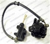 "Rear Brake Assembly -  19"" Hose, 110cc-125cc"