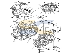 <span class='parts'>01</span>| 11100-003-0002<br>Left Crankcase Assy