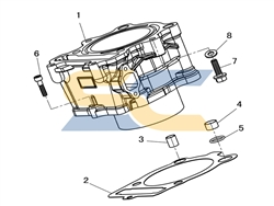<span class='parts'>01</span>| 12100-003-0000<br>Cylinder Body, UTV 400