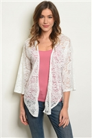 All Over Lace Adorned Cardigan