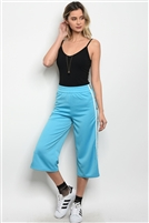 Cropped Track Pants - Sky Blue