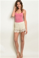 Crochet Stitched Shorts