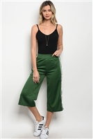 Cropped Track Pants - Hunter Green