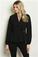 V Neck Side Button Detailed Blazer