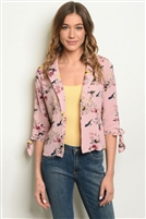 Floral Printed Adorned Jacket