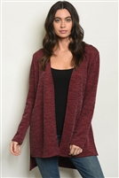 Solid Knitted Detailed Cardigan