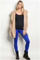 Fleeced Lined Leggings - Royal Blue