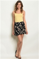 Floral Print Ruffled Mini Skirt
